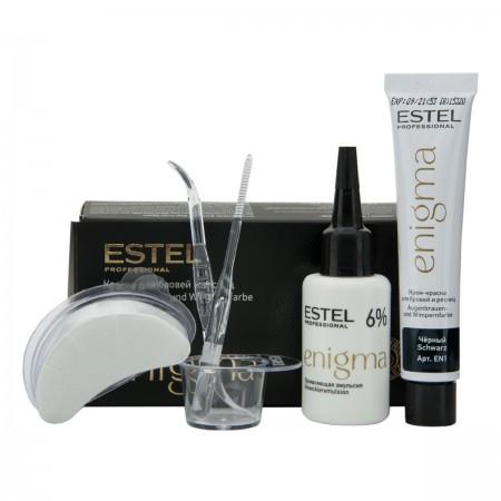 Краска для бровей и ресниц Estel ENIGMA черный 20 мл + 20 мл