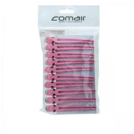 Зажимы Comair Combi розовые 9,5 мм 10 шт
