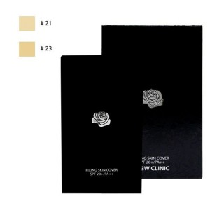 Кушон для лица 3W CLINIC Rose quartz Fixing cover Two way cake (21)