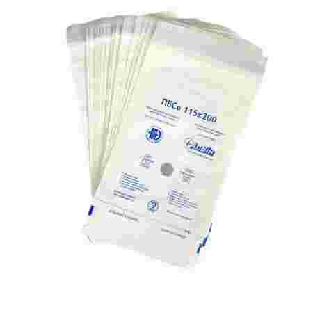 Пакети самоклеющиеся для стерилизации (белые) ПБСк 115х200 мм 100 шт Алвин