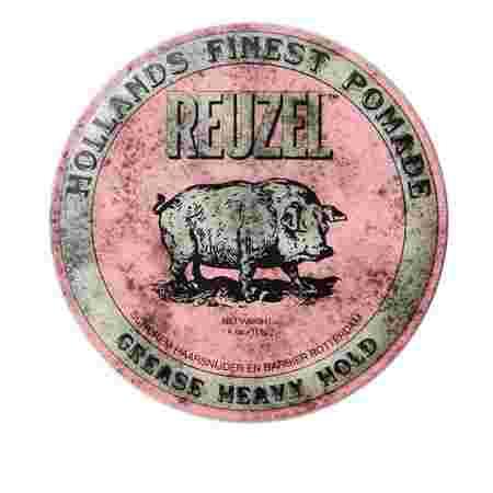 Бриолин на восковой основе Reuzel Grease Heavy Hold (Pink) 113 г
