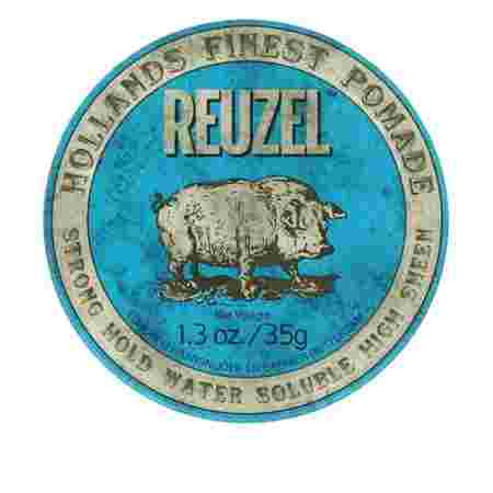 Бриолин на водной основе Reuzel Strong  Hold Water Soluble Hight Sheen (Blue) 35 г