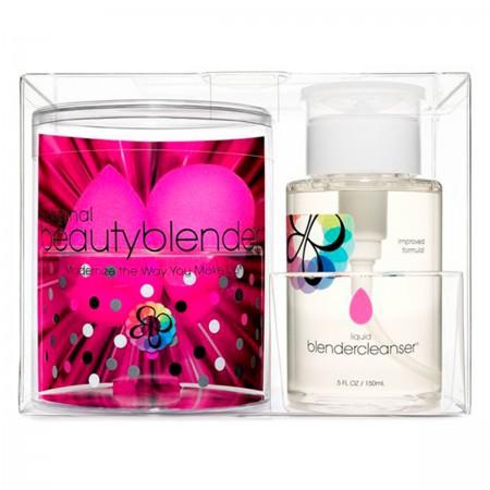 Набор Beauty Brands 2 спонжа Beautyblender + очищающий гель Blendercleanser 150 мл