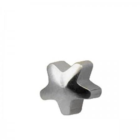 Серьги Caflon Studex средний размер Звезда серебро R501W