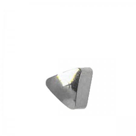 Серьги Caflon Studex средний размер Треугольник R504W серебро