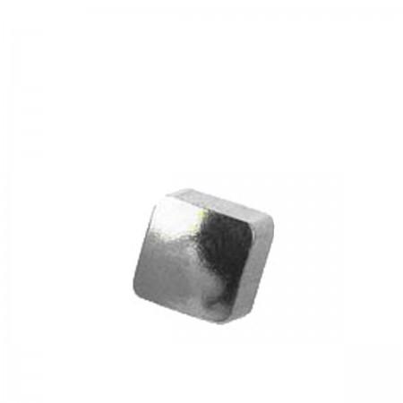 Серьги Caflon Studex средний размер Квадрат серебро R505W