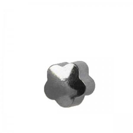 Серьги Caflon Studex средний размер Цветок R508W серебро