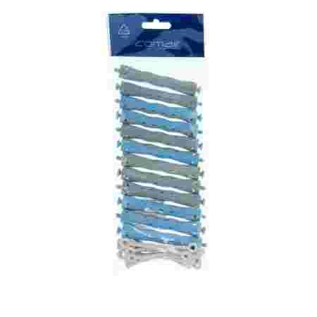 Бигуди волнистые Comair сине-серые 13 мм 12 шт