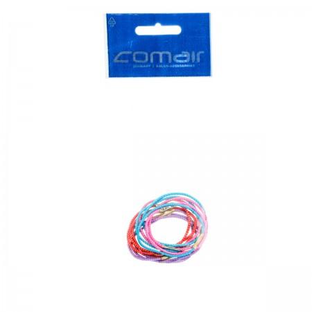 Резинки для волос средние Comair цветные 12 шт