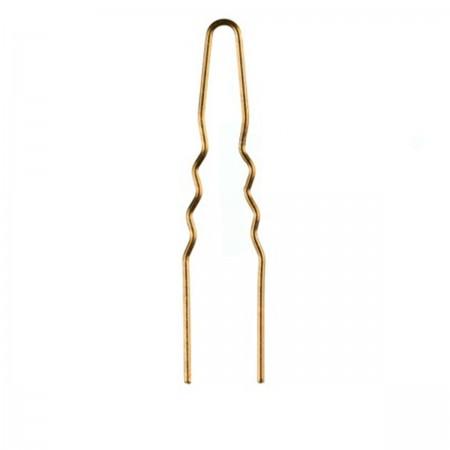 Шпильки толстые Comair золотые 65 мм 50 шт