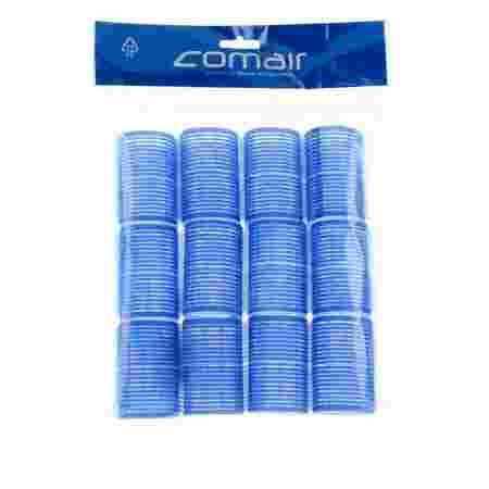 Бигуди-липучки Comair Velcro plus синие 40 мм 12 шт