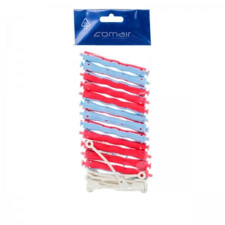 Бигуди волнистые Comair сине-красные 10,5 мм 12 шт