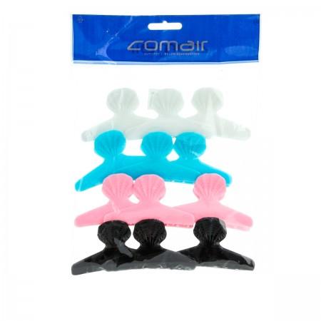 Зажим-жабка пластиковый Comair Fashion Hair цветные 1 шт