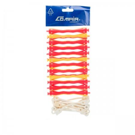 Бигуди для химической завивки Comair желто-красные 8,5 мм 12 шт
