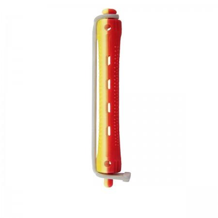 Бигуди для химической завивки Comair красно-желтые 9 мм 12 шт