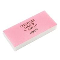 Баф-брусок COUTURE бело-розовый 100/180