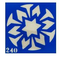 Трафарет для тату Crystal Company 6*6 см (240)