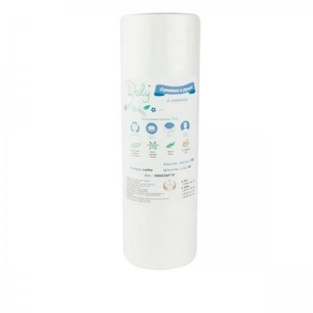 Салфетки гладкие Doily 20*20 см 40 г/м2 100 шт в рулоне
