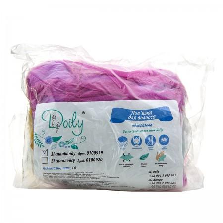 Повязка для волос одноразовая Doily стандарт Микс 10 шт