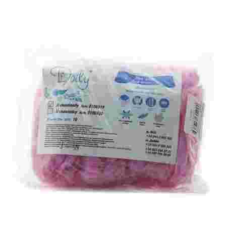 Повязка для волос одноразовая Doily стандарт Розовая 10 шт