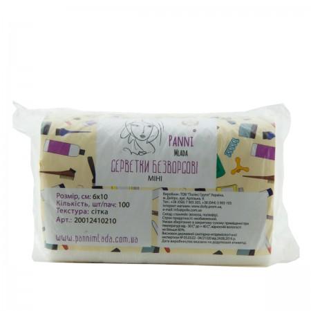 Салфетки сетка Doily Panni Mlada 6*10 см 100 шт в упаковке