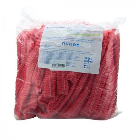 Шапочка Polix двойная резинка 100 шт (Красный)