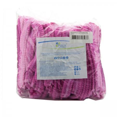 Шапочка Polix двойная резинка 100 шт (Розовый)