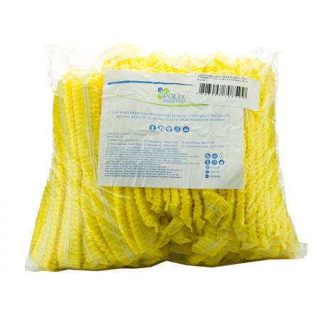 Шапочка Polix двойная резинка 100 шт (Желтый)