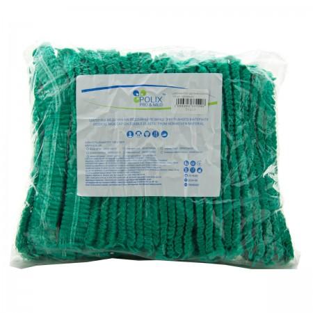 Шапочка Polix двойная резинка 100 шт (Зеленый)