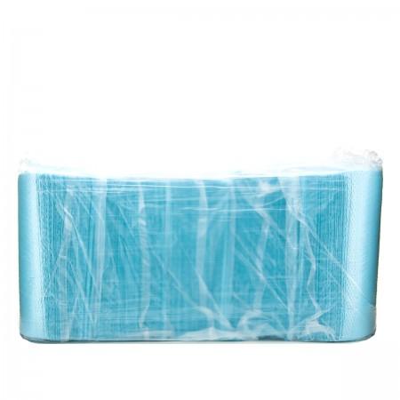 Салфетка-нагрудник медецинская 3-х слойная 45х32 см (125 шт) (Голубой)