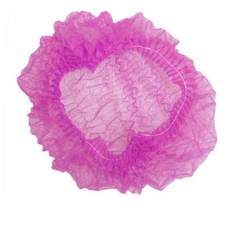 Шапочка Polix на одной резинке 100 шт (Розовая)