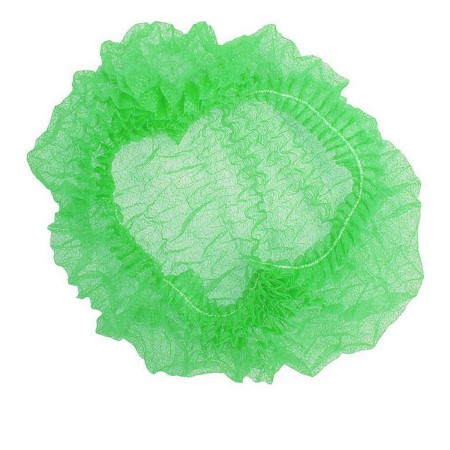 Шапочка Polix на одной резинке 100 шт (Зеленая)