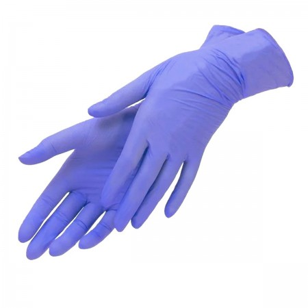Перчатки нитрил без пудры текстурированные Polix PRO&MED 100 шт р M (Ice Blue)