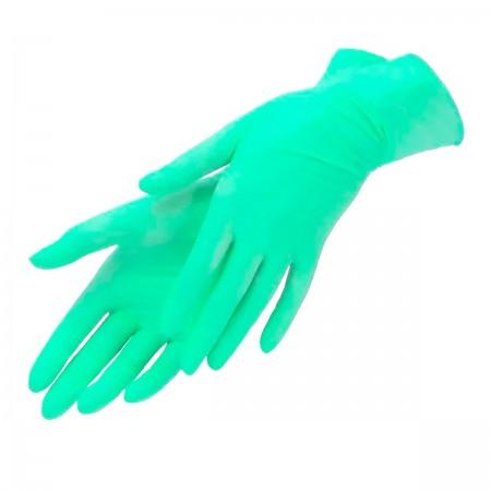 Перчатки нитрил без пудры текстурированные Polix PRO&MED 100 шт р M (Green Mint)