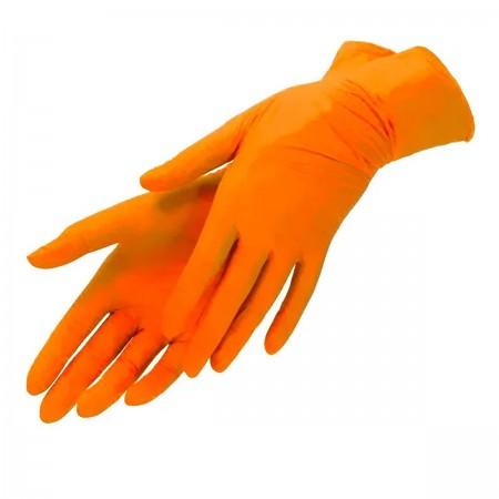 Перчатки нитрил без пудры текстурированные Polix PRO&MED 100 шт р M (Orange)