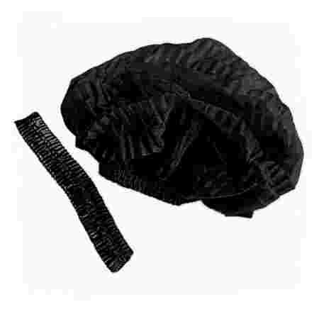 Шапочка ПМ на двойной резинке 100 шт (Черный)