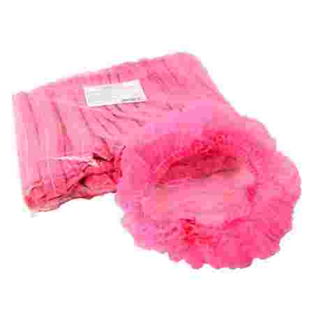 Шапочка ПМ на двойной резинке 100 шт (Розовый)