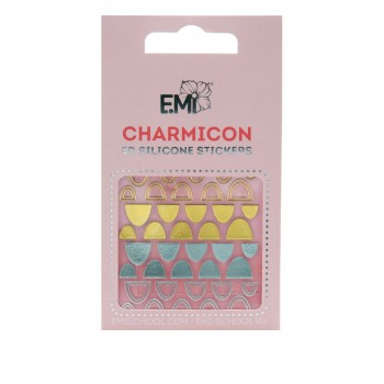 Наклейки для ногтей E.Mi Charmicon 3D Silicone Stickers (Лунулы № 95)