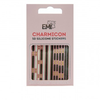 Наклейки для ногтей E.Mi Charmicon 3D Silicone Stickers (Ремни №90)