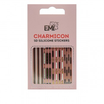 Наклейки для ногтей E.Mi Charmicon 3D Silicone Stickers (Ремни №91)