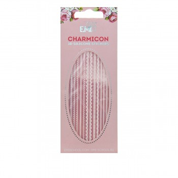 Наклейки для ногтей E.Mi Charmicon 3D Silicone Stickers (Кружева Mix белые № 3)