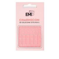 Наклейки для ногтей Charmicon 3D Silicone Stickers (Квадраты № 114)