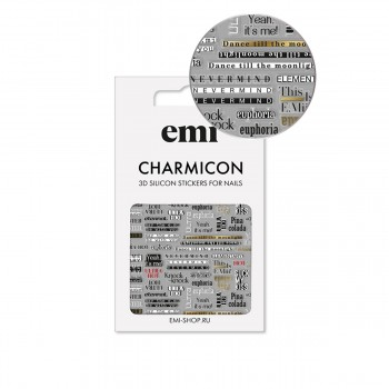 Наклейки для ногтей E.MI Charmicon 3D Silicone Stickers (167 Cheeky)