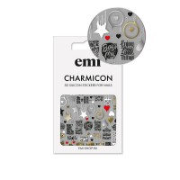 Наклейки для ногтей E.MI Charmicon 3D Silicone Stickers (168 Значки)