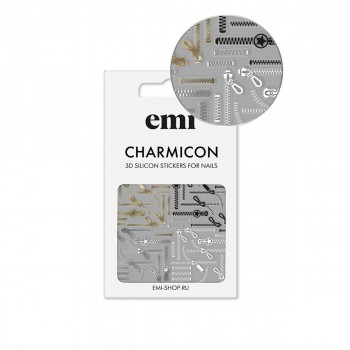 Наклейки для ногтей E.MI Charmicon 3D Silicone Stickers (170 Молнии)