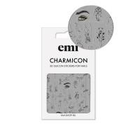 Наклейки для ногтей E.MI Charmicon 3D Silicone Stickers (173 Силуэты)