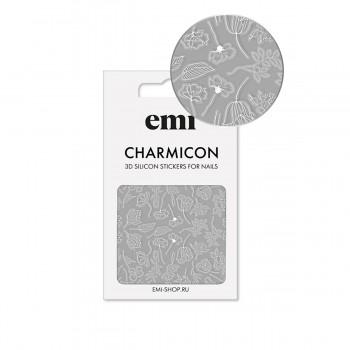 Наклейки для ногтей E.MI Charmicon 3D Silicone Stickers (177 Белые цветы)
