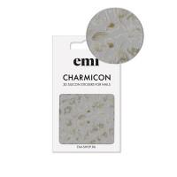 Наклейки для ногтей E.MICharmicon 3D Silicone Stickers (178 Цветы золото)