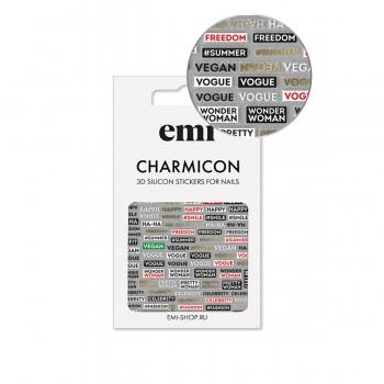 Наклейки для ногтей  E.MI Charmicon 3D Silicone Stickers (179 Фразы)