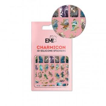 Наклейки для ногтей Charmicon 3D Silicone Stickers (142 Мрамор)